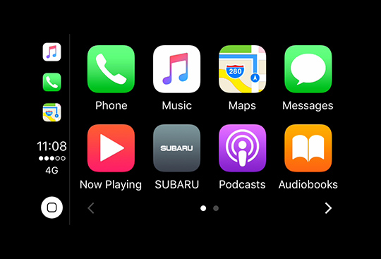 Apple CarPlay<sup>*3</sup> and Android Auto<sup>*4</sup>